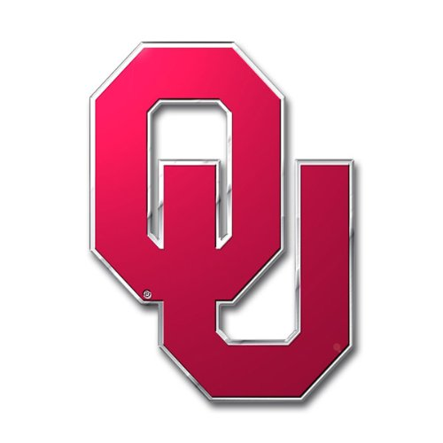 Team Spirit Oklahoma Sooners 3D COLOR Chrome Auto Emblem Home Decal Football University of ()