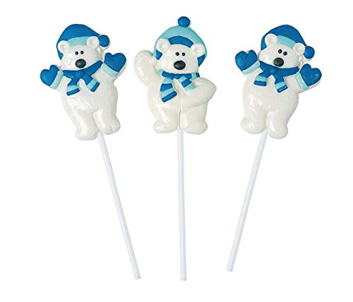 - Fun Express 24 Count Polar Bear Frosted Suckers | Stocking Stuffers Toys Candy