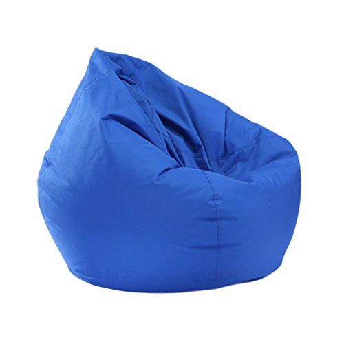 Homyl Extra Large Classic Bean Bag Chair Cover, Indoor Outdoor Garden Beanbag Seat, Stuffed Animal Toy Organizer, Clothes Storage Bag, 30x30x35 Inch - Blue by Homyl