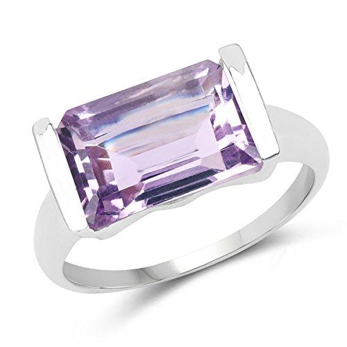 - 3.88 ct. Genuine Amethyst Sterling Silver Ring