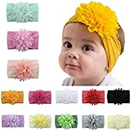 6Pcs/13 PCS Baby Nylon Headbands Hair Bow Stretchy Elastics Hair Accessories for Baby Girls Newborn Infant