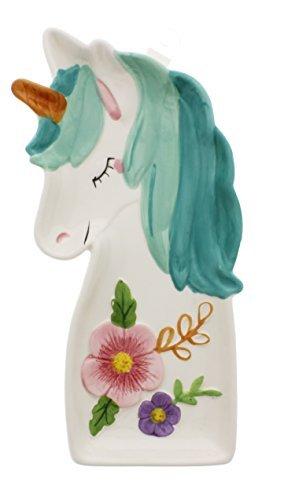 Boston Warehouse Unicorn Spoon Rest, Hand Painted Ceramic