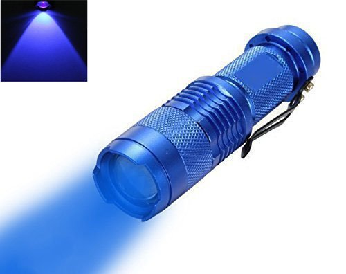 Mini Butterball 300 Lumens 3 Mode Mini Hunting LED Flashlight Night Vision Torch Supported AA battery or 14500 3.7v battery (Blue Light) - Mini Led Flashlight Blue Light