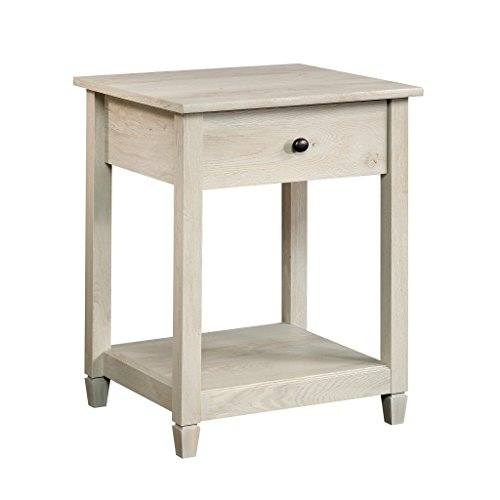 Sauder Edge Water Side Table, Chalked Chestnut finish