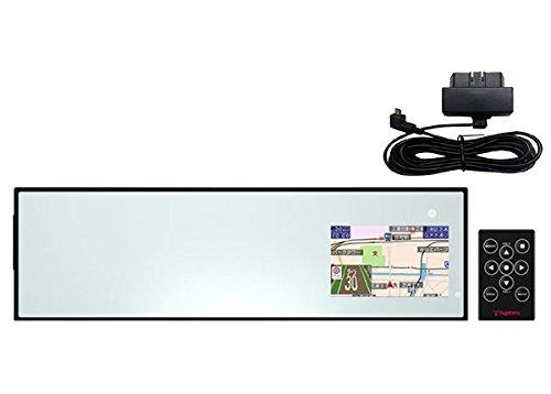 SUPER CATユピテル3.2型OBDII対応ミラータイプGPSレーダー探知機A530+OBDIIアダプターOBD12-MIIIセット B07F6DN67W