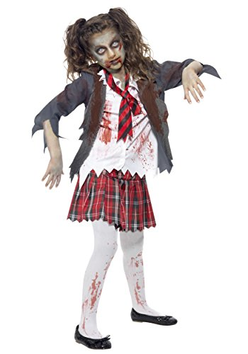 Big Girls' Zombie School Girl Costume - XS