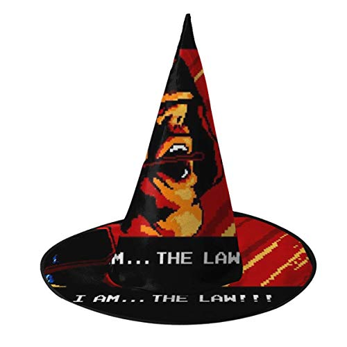 Dredd Costume Halloween (I Am The Law Retro Judge Dredd Witch Hat Halloween Unisex Costume For Holiday Halloween Christmas Carnivals)