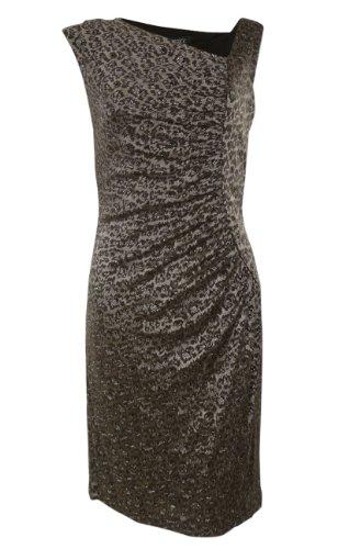 metallic animal print dress - 4