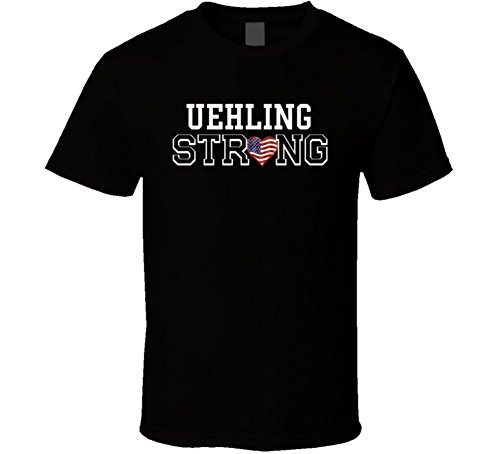 Uehling Strong American Pride Family Last Name USA T Shirt 2XL Black
