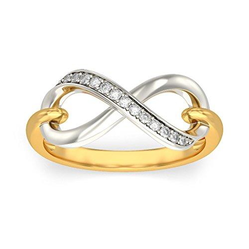 Or jaune 18K, 0.06CT TW Diamant Blanc (IJ | SI) en diamant