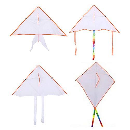 FidgetKute DIY Painting Kite Foldable Outdoor Beach Kite Children Kids Sport Funny Toys PA from FidgetKute