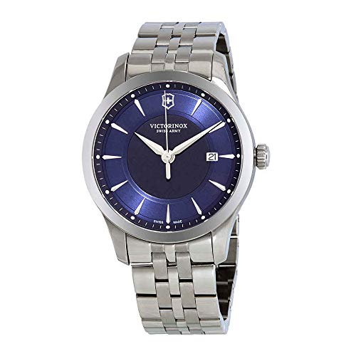 Victorinox Swiss Army 241802 Alliance Men's Watch Silver 40mm Blue - Dial Army Blue Watch Swiss