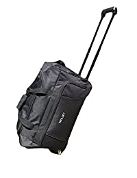 """20-inch Wheeled Rolling Carry On Duffle Bag Cargo 20"""", Black, Small"""