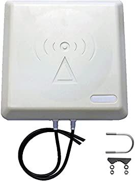 Antena LTE de alto rendimiento de panel 9dBi premio 800 mhz incluye 5 M Twin-antena para Telekom, Vodafone, Huawei ...