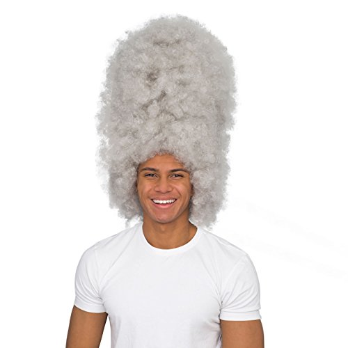 Adult Afro Costume Accessory White Deluxe Wig]()