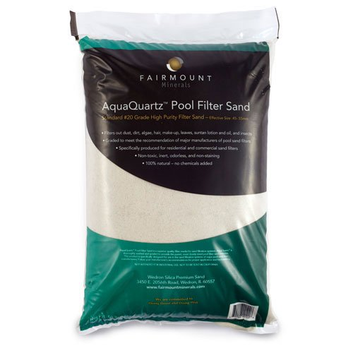 Fairmount Minerals Pool Filter Sand #20 Grade Silica Sand - 50 lbs. by