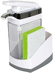 Casabella Sink Sider - Jabonera con Esponja para Fregadero, Blanco, 1