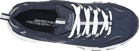 Skechers Sport Vrouwen Dlites Memory Foam Lace-up Sneaker Marine