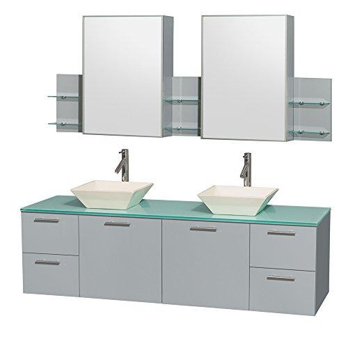 Wyndham Collection WCR410072DDGGGD2BMED Amare Vanity, Dove Gray