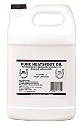 FARNAM 77652 202118 Neatsfoot Pure Oil for Leather Care Clear, 1 gallon
