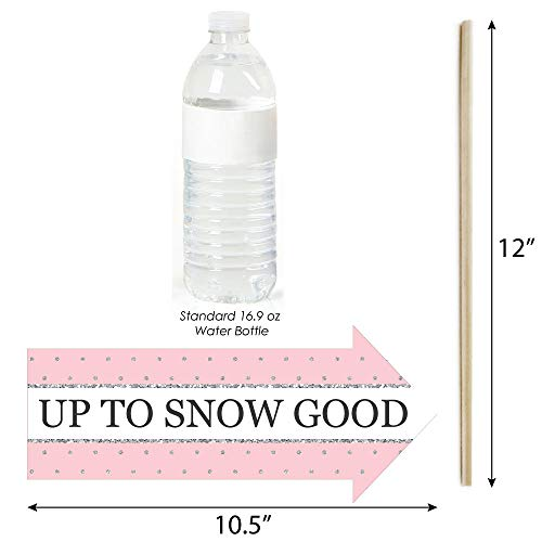 Funny Pink ONEderland - Holiday Snowflake Winter Wonderland Birthday Party Photo Booth Props Kit - 10 Piece Photo #3