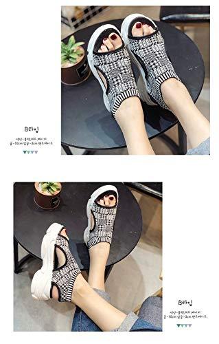 De 36 37 Chaussures 5 Mode Plein Baskets Formation Tennis Sandales Autocollants Travail Air Zhijinli Course 5 Magiques wp1IqOTnxA