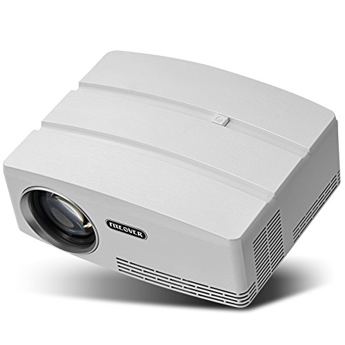Fixeover Portable Projector, 180'' Projection, Video Projector 1080p Supported, Led Projector for Home indoor outdoor Movie nights Game party, Supports PC PS3/PS4 Xbox by Fixeover