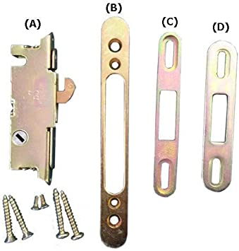 Puerta corrediza de patio Kit de cerradura para: Amazon.es: Bricolaje y herramientas