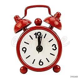 Digit Alarm Clock - Candy Colors Lovely Cartoon Alarm Clocks Dial Number Round Desk Clock Decoration Snooze Function - Clock Home Alarm Alarm Vintage Clock Clock Clock Alarm Table Watch