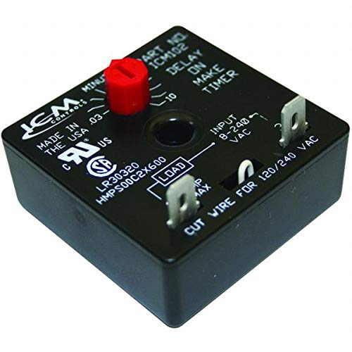 - ICM ICM102B - Aftermarket Replacement Adjustable Time Delay - Delay on Make - 6 sec to 8 min