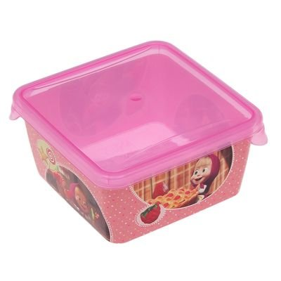 1 piece Lunch Boxes Masha and bear children's lunch (16.1 inch)]()