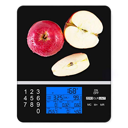 IDAODAN Smart Food Scale with Perfect Portions Nutritional Facts Display