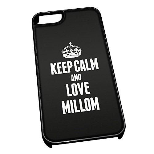 Cover per iPhone 5/5S 0436nero Keep Calm And Love Millom