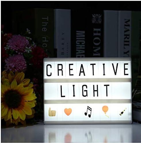 Cine Cartas Caja de Luz LED Lámpara Nocturna A5 Tamaño Batería LED Caja de Iluminación Con Letras Para Niños Niños Buen Regalo: Amazon.es: Iluminación