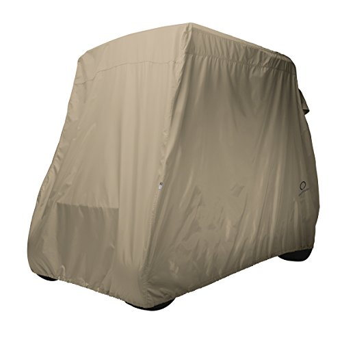 (Classic Accessories Fairway Golf Cart Cover, Khaki, Long Roof)