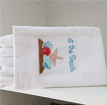 XXIN Corte De Algodón Puro Blanco Terciopelo Toallas Bordadas Toallas Cara Cara Adulta Toallas Gruesas Absorbente Parejas Un 41X63Cm.: Amazon.es: Hogar