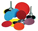 Merit 2'' X 2-Ply 24 Grit Very Coarse Grade Aluminum Oxide Powerlock Maroon TR (Type III) Resin Bond Coated Cloth Disc