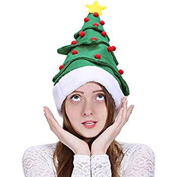 4abeaa74b3a Amazon.com  Santa Hats - Christmas Hats - Elf Hat With Bells ...