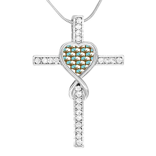 Price comparison product image Beufun Cross Infinity Love Pendant Necklace Elephant 3D Printed Jewelry for Women Girls
