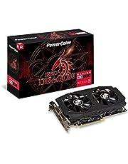 PowerColor AXRX 580 8GBD5-3DHDV2/OC AMD Radeon RED DRAGON RX 580 Graphics Card, 8GB