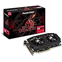 PowerColor AMD Radeon RED Dragon RX 580 8GB GDDR5 1xDL DVI-D/1 x HDMI/3 x DisplayPort Graphics Card(AXRX 580 8GBD5-3DHDV2/OC)