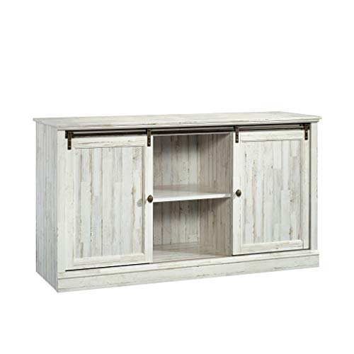 Sauder 423674 Barrister Lane 60'' Sliding Door Entertainment Credenza, White Plank Finish by Sauder (Image #9)