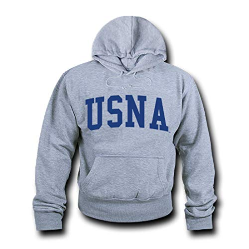 W Republic NCAA Navy Unisex 503Game Day Hoodie, Heather Grey, Medium from W Republic