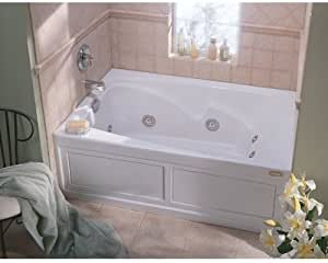 Jacuzzi Cts6036wrl2chw Cetra 60in X 36in Three Wall Alcove Comfort Whirlpool Bathtub White Recessed Bathtubs Amazon Com