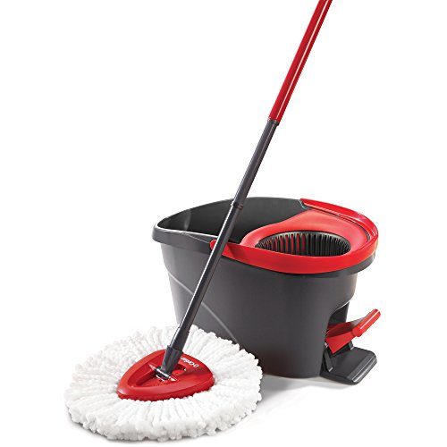 O-Cedar EasyWring Microfiber Outing Mop and Bucket Floor Cleaning System