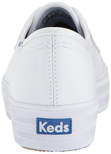 Women's Leather Kick Sneakers White Triple Keds qwOtxn