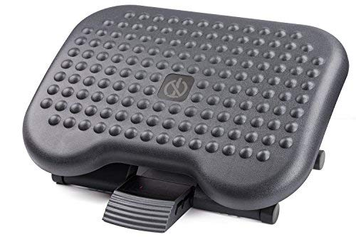 Halter Adjustable Angle Foot Rest - F7012 Premium Footrest, 13.8 X 17.7 - For Office & Home, Adjustable Angle Positions - Black HALF7012