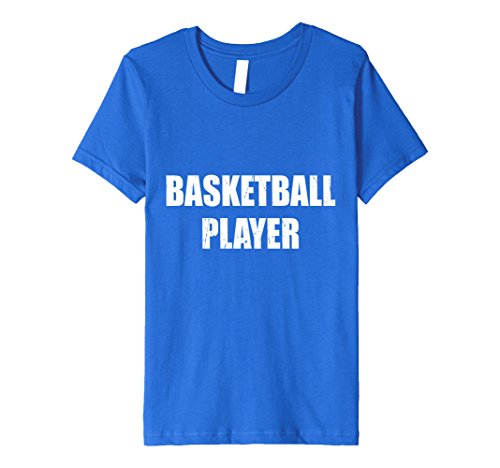 [Kids Basketball Player Halloween Costume Party Cute Funny Shirt 8 Royal Blue] (Girls Basketball Player Costume)