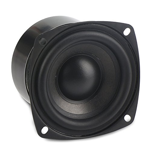 DROK 25W 3 Inch Square Shape Woofer Speaker Stereo Loudspeaker 4 Ohm Computer Compact Speakers, DIY Home Car Audio HiFi Speakers Bass ()