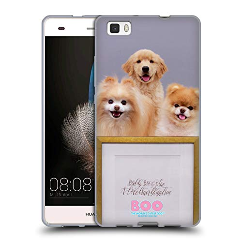 Official Boo-The World's Cutest Dog Bluebeary Pie Friends Soft Gel Case for Huawei P8lite / ()